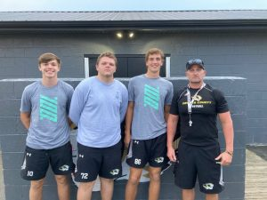 """""""Tiger Talk"""" airs at 6:30 p.m. (Friday) on WJLE with the Voice of the Tigers John Pryor interviewing Coach Steve Trapp and Tiger football players (pictured left to right) Silas Cross, Caven Ponder, and Aidan Curtis"""