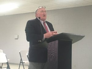 City attorney Vester Parsley addressed the Smithville Beer Board Tuesday asking that the beer licenses of three stores be suspended for 90 days after clerks at those businesses sold beer to a minor during an undercover investigation by the Smithville Police Department last month. The board voted to issue the suspensions in all three cases