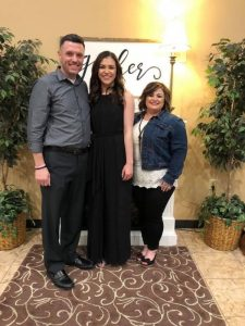 Kennedy with her parents Josh and January Agee