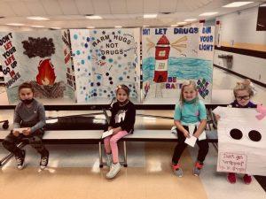 DeKalb West Red Ribbon Poster Contest Winners: K-2 1st Sawyer Hendrix 2nd Claire Cripps 3rd Maggie Hendrix 4th Emma Thomason