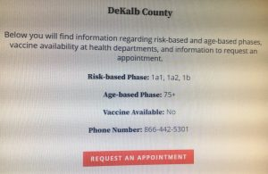 Area county health departments currently dealing with limited supply or no vaccine for COVID-19