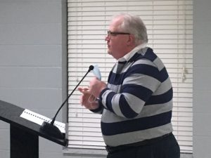 CPA John Poole addressed the mayor and aldermen Monday night on his audit of the city for 2019-20