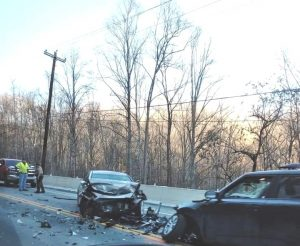 A woman and two young boys were airlifted Saturday after a head-on crash on Highway 70 east of Sligo According to Trooper Brent Collier of the Tennessee Highway Patrol 60 year old John Whelan of Smithville was traveling west in a Hyundai Sonata when he crossed into the path of an eastbound Kia Soul driven by 26 year old Mackenzie Baker of Spencer. Two boys, ages 12 and 10, were backseat passengers of her vehicle. Baker and the two boys were airlifted by separate helicopters to Vanderbilt Hospital. Whelan was not injured.