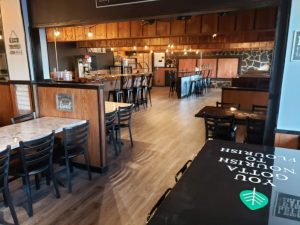 When the White Possum Restaurant opens again on March 1, the inside décor will reflect the healthy food options that owner Rawlin Vanatta will provide to the public.