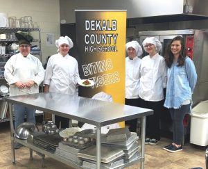 The DCHS Biting Tigers took 3rd place in the 3rd annual Junior Chef competition for high school students hosted by the TN Dept. of Education School Nutrition Program. Each team member received a $4,000 scholarship to Sullivan University in Louisville, KY. Congrats team. The DCHS Biting Tigers consist of Jacklyn Kleparek (Sophomore), Sophia Angeletti (Junior), Kaitlyn Jackman (Junior), and coach/culinary teacher Linda Parris.