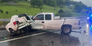 19 Year Old Cookeville Woman Dies in Fiery Crash at Liberty (DeKalb Fire Department Photo)