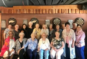FCE Holds Rally at Twisted Oaks Restaurant: Pictured front row L-R: Dinah Ross, Marguerite Jones, Jenelle Pugh, Jean Adams, Linda Rogers, Susan Hinton, Mary Nell Summers. Back row: Laura Chandler, Niki Yarbrough, Petra Mitchell, Joel Dawes, Judy McAfee, Dianna Junker, Susan England, Linda Thweatt, Carolyn Williams, and Helga Thompson.