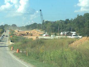 Highway 56 Road Construction near DeKalb/Warren County line