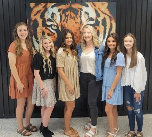 The 2021 DCHS Homecoming Queen and attendants pictured left to right are: Sophomore Attendant- Abby Grace Cross; Junior Attendant- Hannah Paige Trapp; Senior Attendant- Addison Jean Puckett; Queen Kyleigh Breanne Hill; Senior Attendant Sadie Rian West; and Freshman Attendant Madeline Aiko Martin