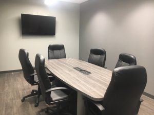 Conference room in new Smithville Police Department Building